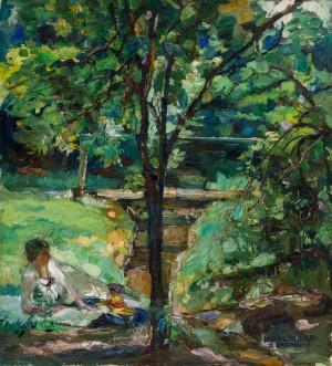 Picknick an der Alz ⋅ 1915 Image