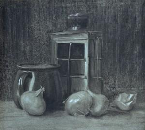 Laterne mit Haferl und Zwiebeln ⋅ um 1930 Image