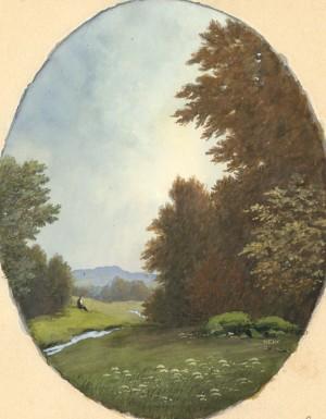 Landschaft mit Wanderer ⋅ um 1915 Image