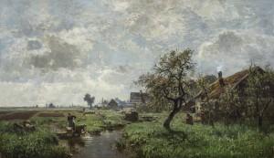 Frühlingslandschaft im Voralpenland ⋅ um 1880 Image