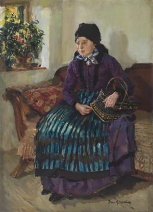 Junge Bäuerin am Fenster ⋅ 1915 Image