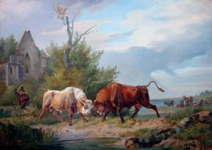 Kämpfende Stiere ⋅ 1838 Image