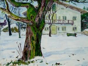 Winter am Haus (Feldwies) ⋅ um 1940 Image
