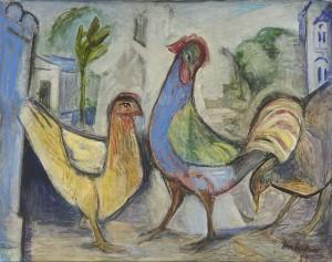 Hühner im Hof ⋅ 1955 Image