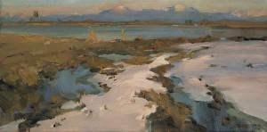 Letzter Schnee in der Schafwaschner Bucht ⋅ 2004 Image