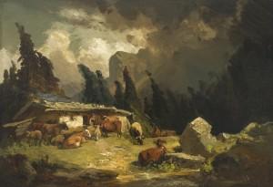 Gewitter auf der Kampenwand ⋅ um 1852 Image