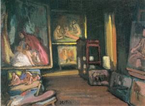 """Das """"Große Atelier"""" im Exter-Haus ⋅ um 1920 Image"""