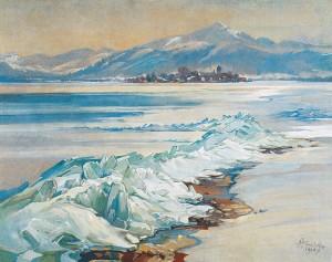 Eispressung am Chiemsee ⋅ 1924 Image
