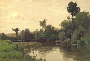 Flußlandschaft ⋅ um 1890 Image