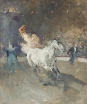 Zirkusreiterin in der Manege ⋅ um 1935 Image