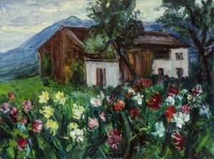 Bauerngarten am Chiemsee ⋅ um 1950 Image