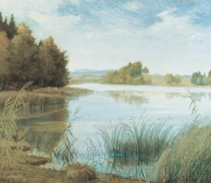 Schlosssee im Herbst (Hartmannsberg) ⋅ 1922 Image
