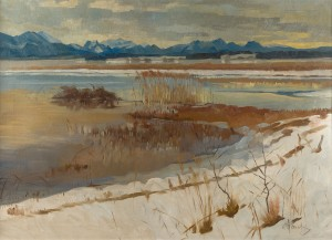 Winter am Chiemsee bei Seebruck ⋅ um 1920 Image