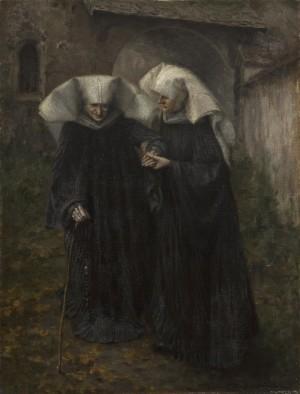 Klosterschwestern von Frauenwörth vor der Torhalle ⋅ um 1891 Image