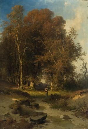 Waldlandschaft im Herbst ⋅ 1878 Image