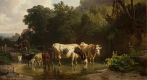 An der Tränke ⋅ 1857 Image