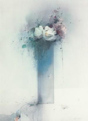 Blumen in schlanker Vase ⋅ 1995 Image