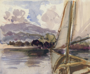 Segelboot am Chiemsee Image