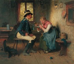 Mädel mit Postillon ⋅ 1897 Image