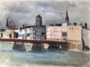 Wasserburg am Inn - Vom Wasser aus mit Innbrücke Image