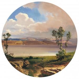 Blick auf den Starnbergersee ⋅ 1860 Image