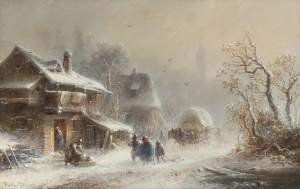 Schneetreiben ⋅ um 1865 Image
