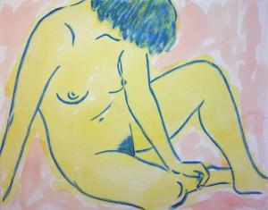 Akt in Gelb ⋅ 1956 Image