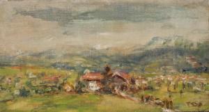 Blick auf Hirschau bei Grabenstätt am Chiemsee ⋅ 1943/45 Image