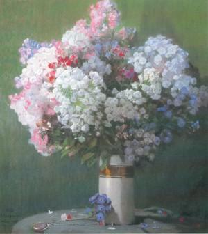 Phlox in Porzellanvase ⋅ 1930 Image