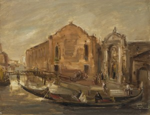 Gondelfahrt in Venedig ⋅ 1941 Image