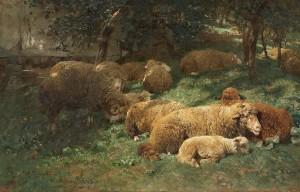 Ruhende Schafherde ⋅ 1873 Image