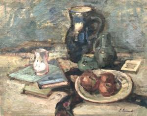 Stillleben mit Krug und Äpfeln Image