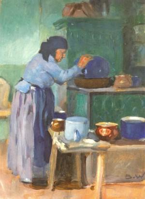 Alte Küche auf der Fraueninsel ⋅ um 1930 Image