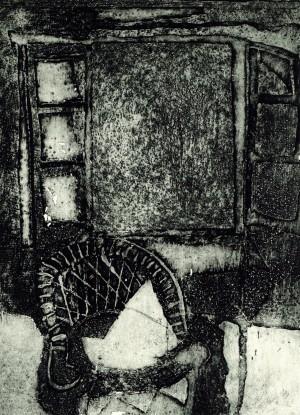 Korbstuhl am Fenster II ⋅ 1990 Image