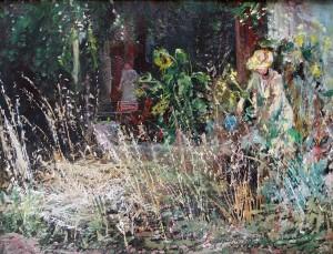 Im Garten auf dem Westerbuchberg ⋅ um 1946 Image