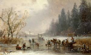 Wintervergnügen ⋅ um 1885 Image