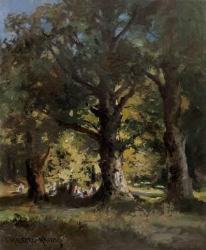 Picknick im Walde Image