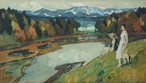 """""""Föhn, Kampenwand, Chiemsee"""" ⋅ 1911 Image"""