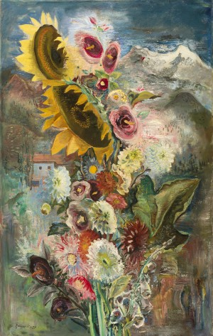 Sonnenblumen in Feldwies ⋅ 1931 Image
