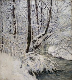 Winter am Bach ⋅ um 1909 Image