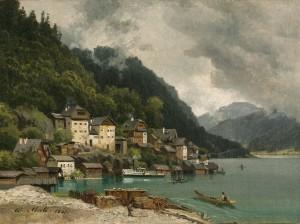 Blick auf Hallstadt ⋅ 1867 Image
