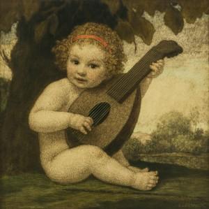 Putto mit Mandoline ⋅ um 1900 Image