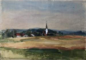 Odelsham bei Wasserburg am Inn | verso: Winterlandschaft bei St. Pölten ⋅ 1944 Image