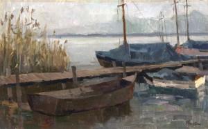 Boote am Steg ⋅ um 1985 Image