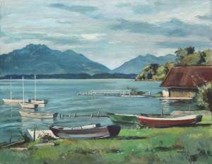 Boote am Gstadter Ufer ⋅ 1953 Image