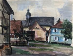 Häuser in Franken | verso: Schloss Burgellern im Landkreis Bamberg ⋅ 1944 Image