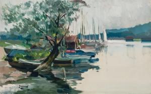 Boote in der Schafwaschner Bucht ⋅ 1970 Image
