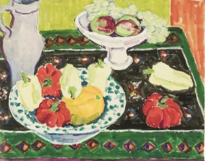 Tischstillleben mit Früchten ⋅ um 1950 Image