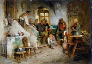 Geiger im Wirtshaus ⋅ 1875 Image