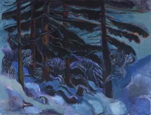 Winterlandschaft im Oberland ⋅ 1984 Image
